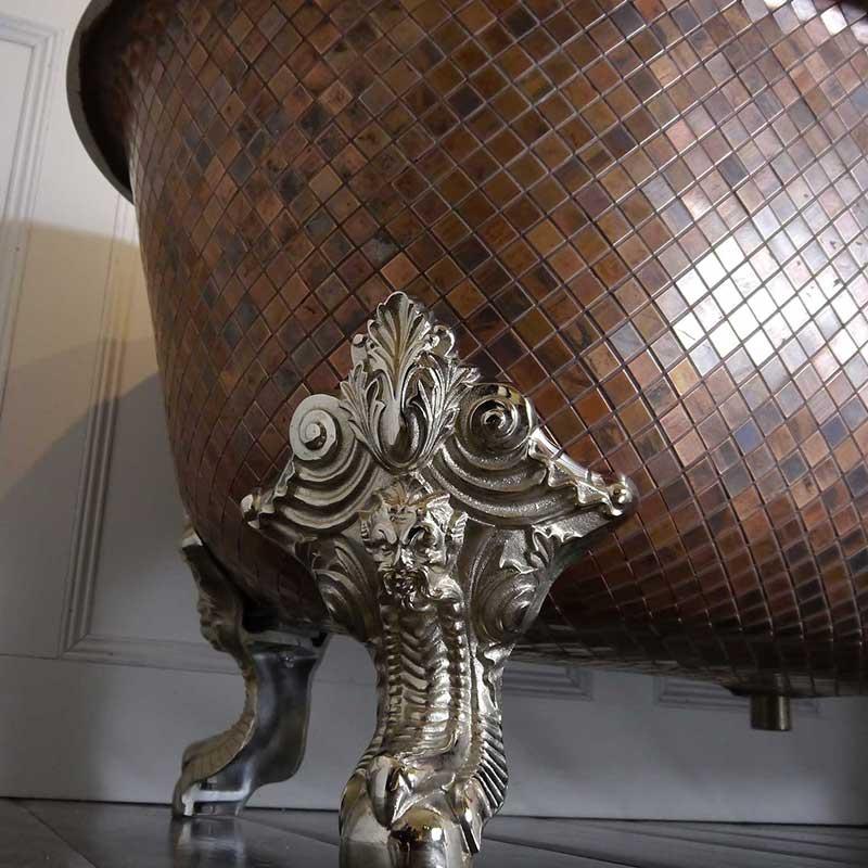 Iconic Chadder Mosaic Rolltop Bath
