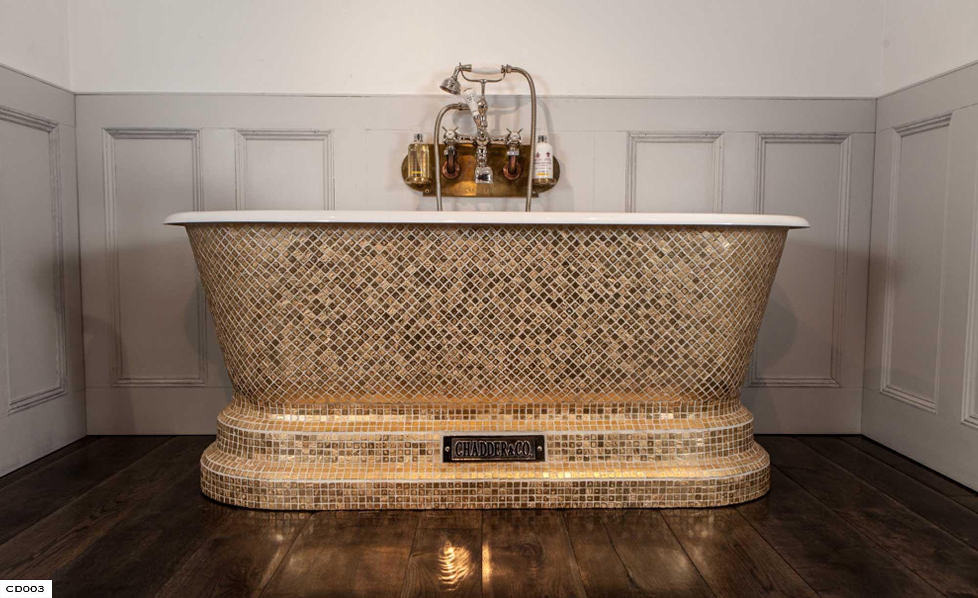Gold Mosaic Bath , Mosaic Baths , Bespoke Cisterns, Mosaic Bathrooms , Luxury Bathroom